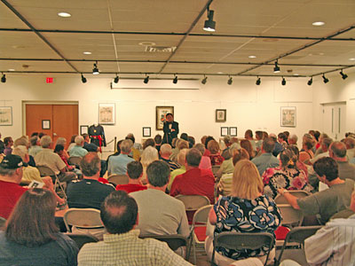Abraham Lincoln, 16th President of the United States, addressed an audience of 145 attendees at the Taber Museum, on Saturday, July 21.