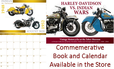 "Commemorative book and calendar for the summer exhibit, ""Harley-Davidson vs Indian Wars"""